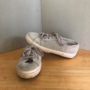 Superga Suede Shearling sneakers off white unisex